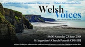 Welsh Voices concert poster