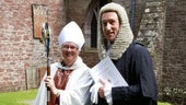 Professor Norman Doe with the first female Bishop of Llandaff, the Very Reverend June Osborne.