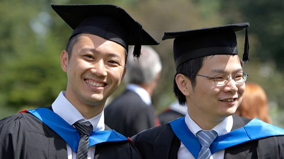 Taiwanese students at Graduation