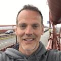 Andrew Emery on a bridge