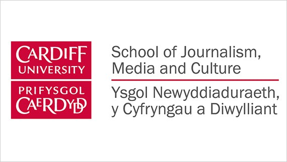 Logo of Cardiff University's School of Journalism, Media and Culture.