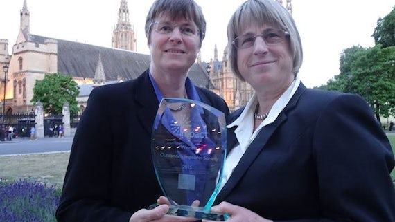 Professor Jenny Kitzinger (Left) and York University's Professor Celia Kitzinger