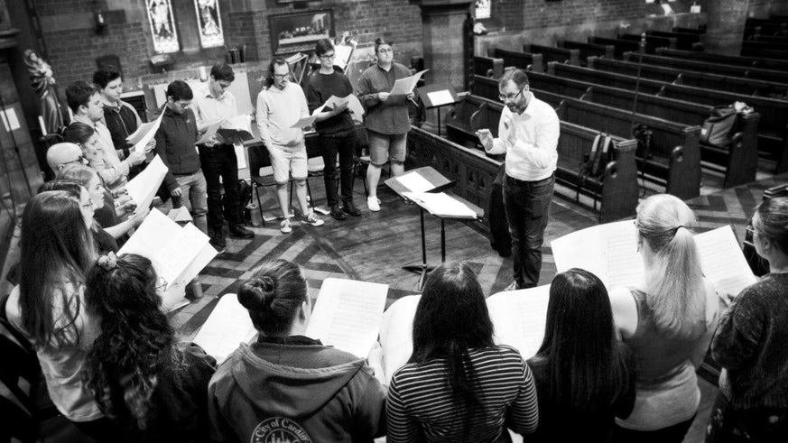 Cardiff University's Contemporary Music Group singing in St Augustine's Church Penarth