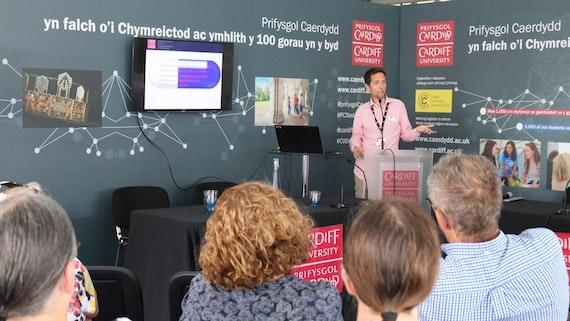 Professor Simon Ward at the Eisteddfod