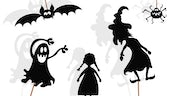 Silhouette of halloween images