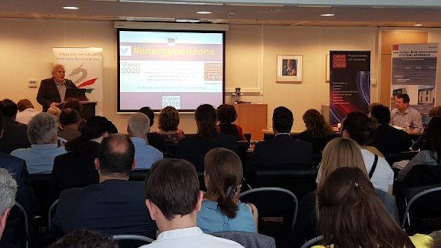 Professor Phil Jones talking at the event.