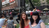 Carly-jo and Sarah in NYC
