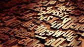 Welsh language letters in wood