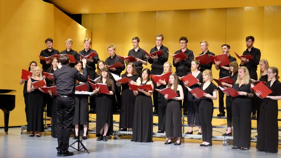 Cardiff University Chamber Choir performing in Beijing Normal University