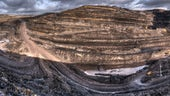 Panoramic photograph of Ffos-y-fan in Wales