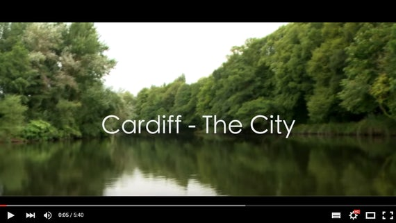 Screenshot from the video 'Cardiff - The City'
