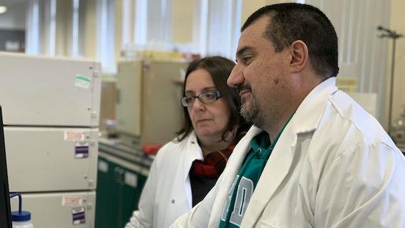 Dr Fabrizio Pertusati and Dr Michaela Serpi