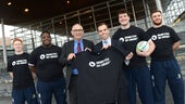 Ken Skates and students from Cardiff Medicals RFC