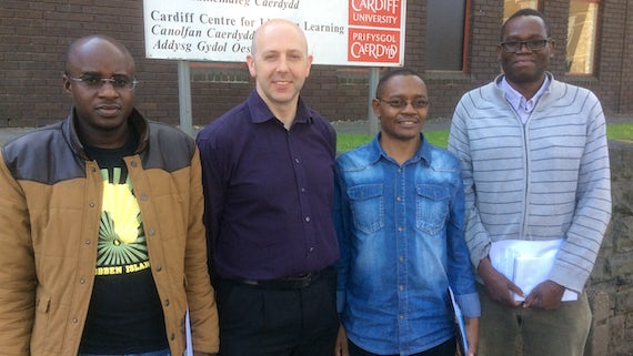 Staff from the University of Namibia visiting Cardiff University School of Mathematics