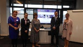 Image of Sarah Lethbridge, Sali Williams, Sue Terpilowski, Dr Andrew Potter and Professor Christine Harland