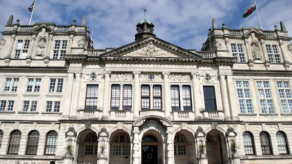 Front of Main Building, Cardiff University