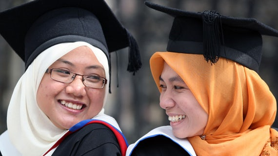 Indonesian students at Graduation