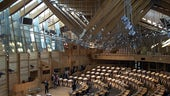 Scottish Parliament chamber by Andrew Bowden