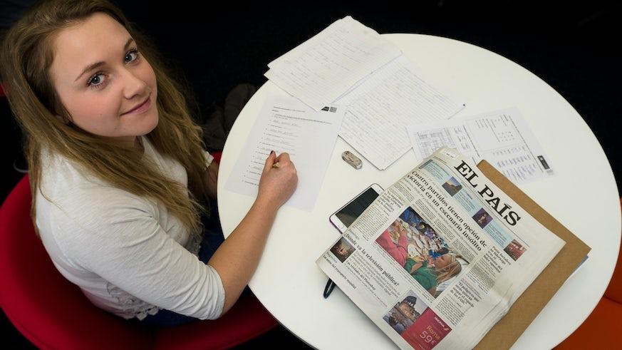 LFA student studying