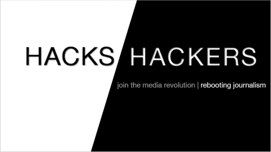 Hacks and hackers logo