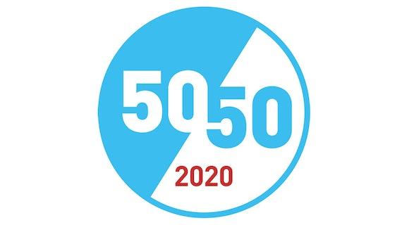 50:50 by 2020 logo