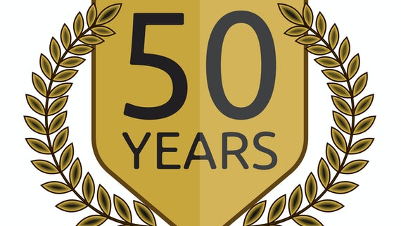 50 years banner