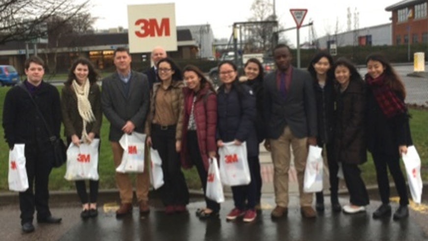 James Birchall and students visit 3M