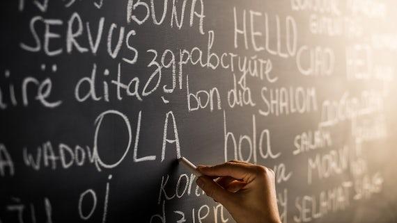 Multiple languages on a blackboard