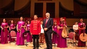 Shandong University Orchestra with First Minister for Wales, the Right Honourable Carwyn Jones