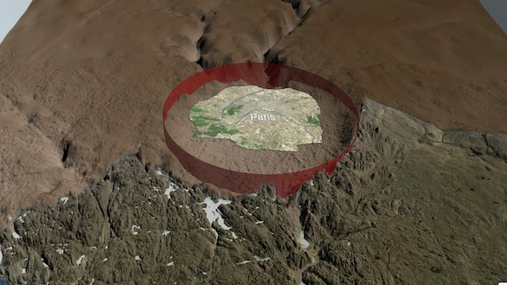 Crater the size of Paris