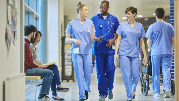 NHS workers in hopsital