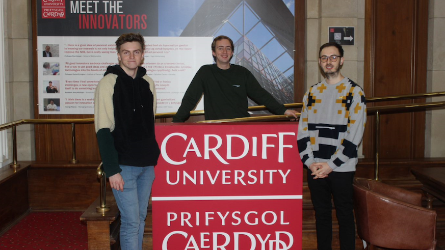Miles Budden and Tom Kelross, Pocket Trees, with winner Callum Hughes