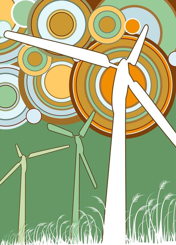 Illustration of turbines