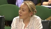 Siân Powell speaking to the Welsh Affairs Committee
