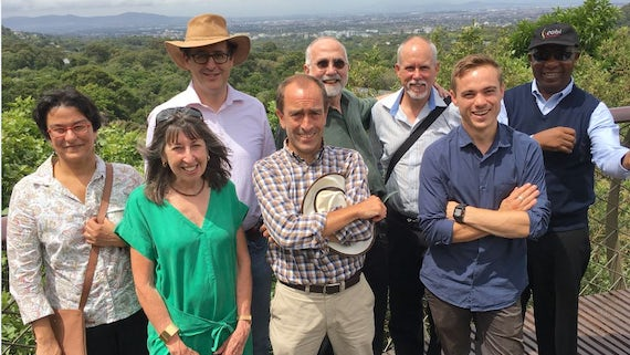 The reference group engaging in a walk-and-talk session in Kirstenbosch National Botanical Gardens, in Cape Town.