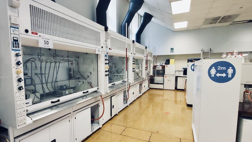 Socially Distanced Chemistry Lab