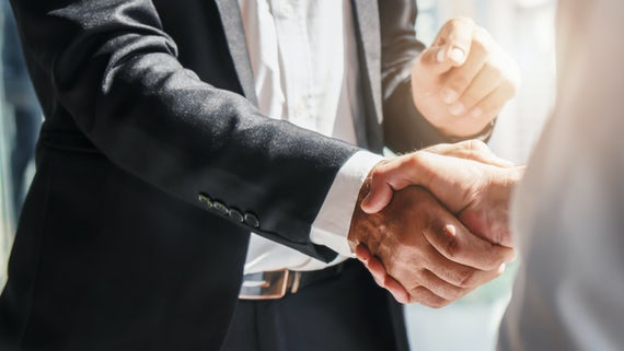 Stock image of handshake