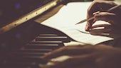 Composing at a piano
