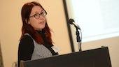 Student delivers presentation