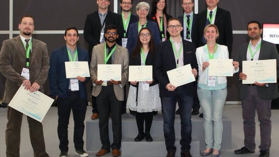 Poster prize winners at the ESTRO conference