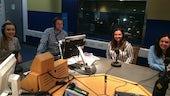 Students in a BBC radio studio