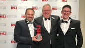 Academics receiving HSJ award.