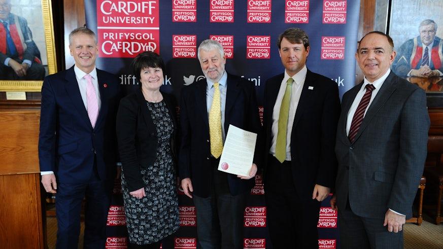 Graham Hutchings receiving Regius Professorship