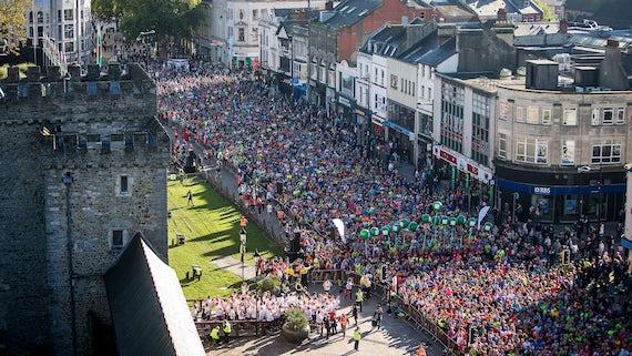Cardiff Half Marathon - Aerial View