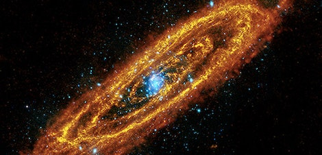 An infrared view of our nearest galaxy taken with the Herschel Space Observatory
