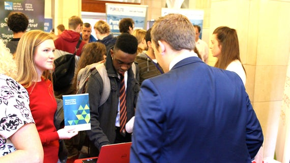 Students at Careers Science Fair
