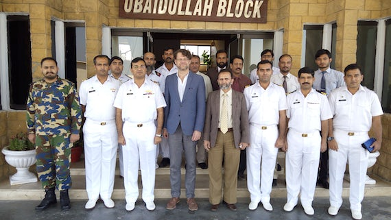 Dr. Christian Bueger (pictured fourth from left) at Aman 17 which took place in Karachi, Pakistan.