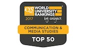QS Top 50 - Communications and Media Studies