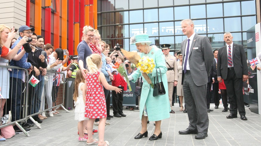 HRH The Queen opening CUBRIC