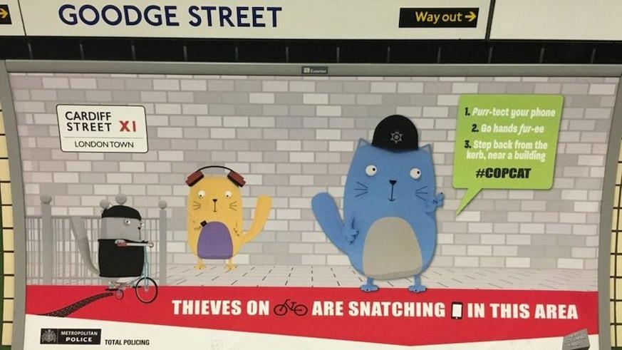 Copcat London Underground Advert